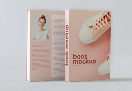 Book Cover and Back Cover Mockup