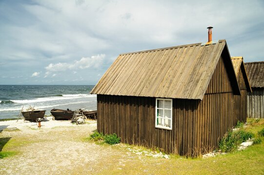 Old fishing village in the Baltic sea, Gotland - Sweden