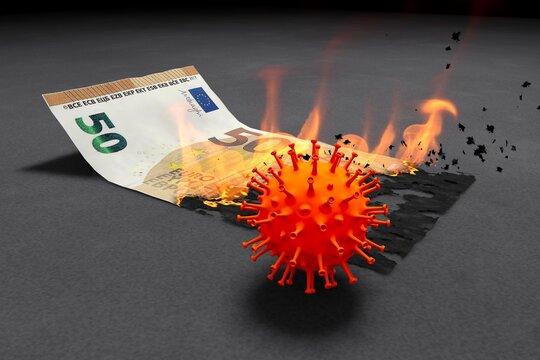 50 Euro brennen in der Krise