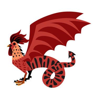 cockatrice basilisk medieval dragon mythology monster