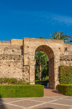 Real Alcazar arch door of Sevilla, Spain