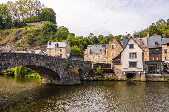 Dinan Port on the Rance River in French Brittany