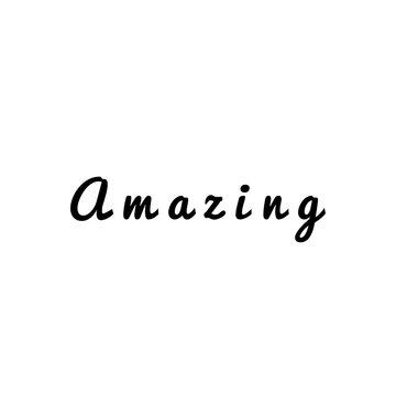''Amazing'' Word Illustration