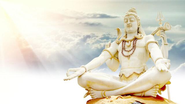 Shiv Doing Meditation and Rays of With Clouds Peace and love Mahadev bholenath Mahashivratri maha shivaratri  2021