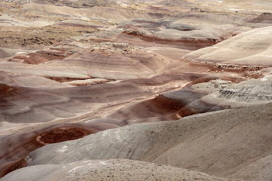 Red and Tan Bentonite Hills