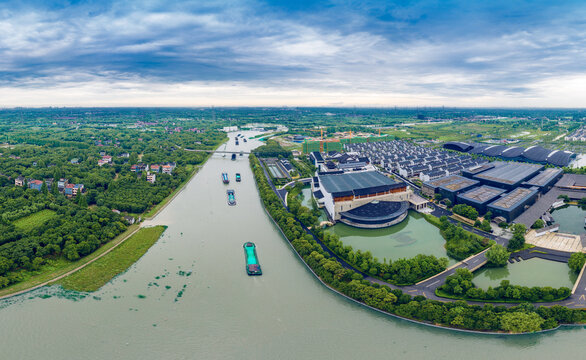 Site of world Internet Conference in Wuzhen, Zhejiang Province, China