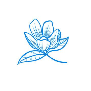 Lotus Flower vector illustration. Blossom SVG pattern design. Download it now