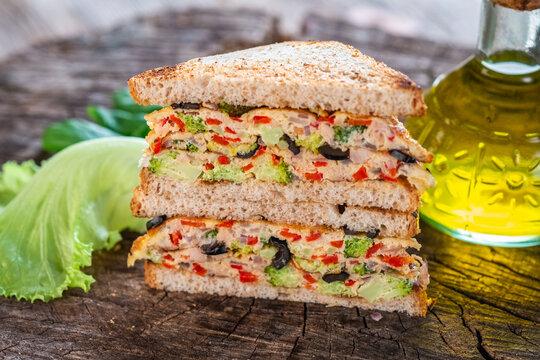 Delicious vegan toast sandwich
