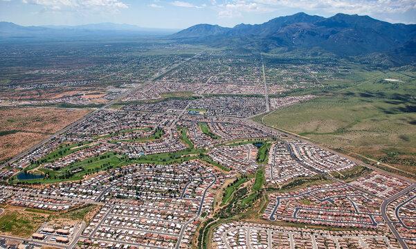 Over Sierra Vista, Arizona in 2013 looking south