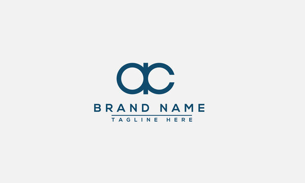 AC Logo Design Template Vector Graphic Branding Element.