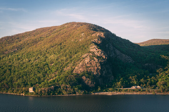 View of Breakneck Ridge from Storm King Mountain, in the Hudson Valley, New York