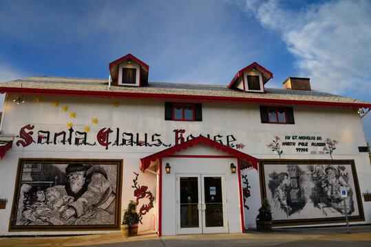 The original Santa Claus House at SantaLand North Pole, Alaska - October 21, 2013