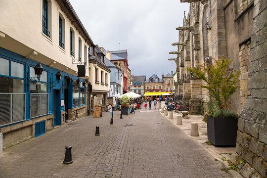 Josselin, France. Vierges street view