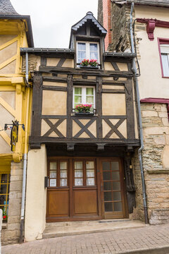 Josselin, France. Half-timbered house in the old town