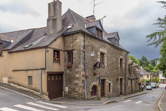 Josselin, France. Old building in the historical part of the city