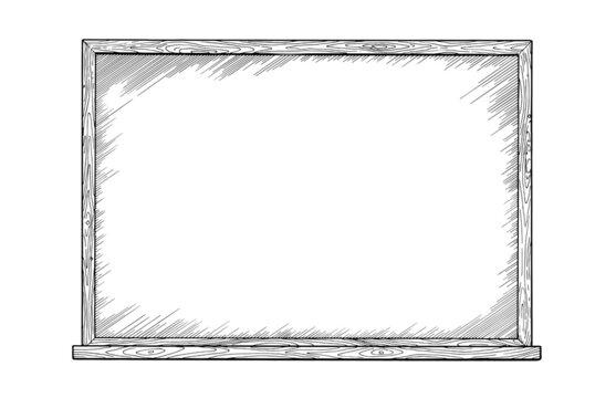 Drawing of classic school blackboard - pen sketch