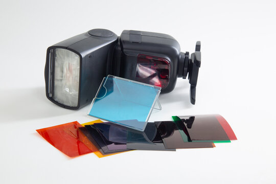 Color filters for flash photography.A device for creativity in photography.