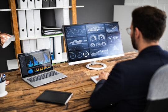 KPI Business Analytics Data Dashboard. Analyst