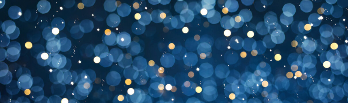 Beautiful defocused Holiday background with glitter light