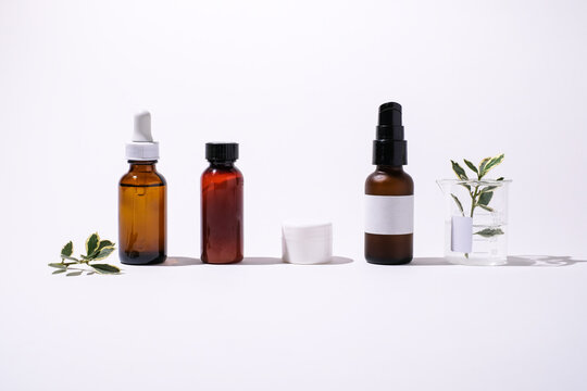 Cosmetic packaging and natural home remedy for wellness and organic skin care.
