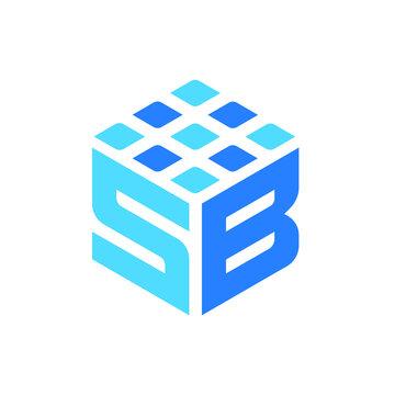 SB Letter Modern Company Logo and Icon Editable Vector Website Favicon for branding