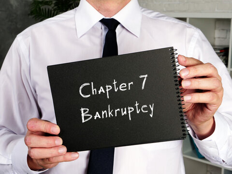 Chapter 7 Bankruptcy sign on the sheet.