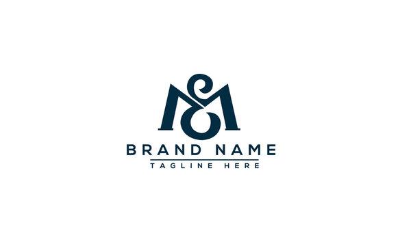 EM Logo Design Template Vector Graphic Branding Element.