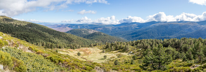 landscapes of the mountains of Madrid in the Guadarrama national park