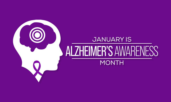 Vector illustration on the theme of Alzheimer's awareness month observed each year during January all over Canada.