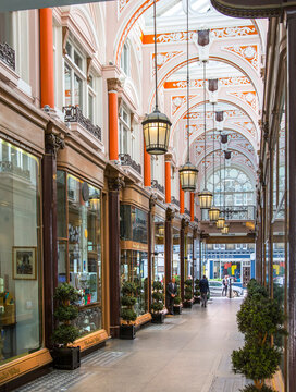 London, UK - August 13, 2019: The Royal Arcade Shopping Centre at Old Bond Street