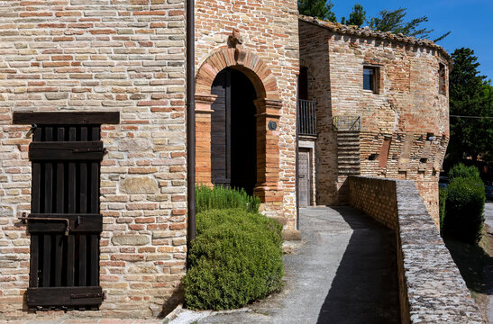 Medieval village Loretello is part of the municipality of Arcevia, in the province of Ancona, in the Marche region, Italy