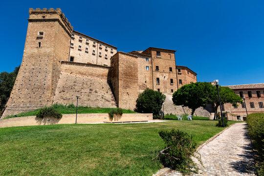 Brunforte Castle in Loro Piceno, Marche, Italy