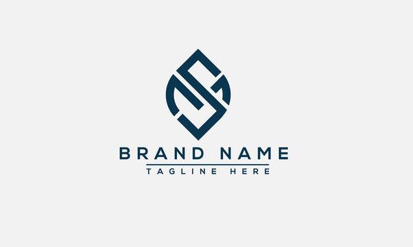 SM Logo Design Template Vector Graphic Branding Element.