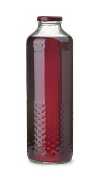Glass bottle of blackberry juice