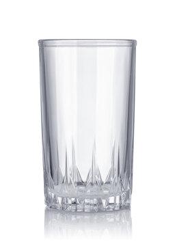 Empty cut crystal glass