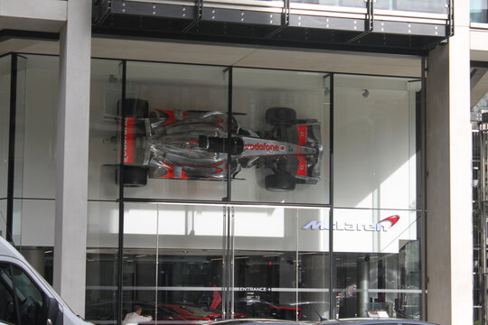 McLaren London headquarters exhibition store