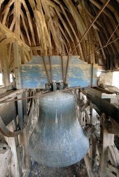 ville de Provins, charpente de la Tour César et sa cloche, département de Seine-et-Marne, France