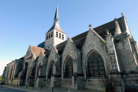 ville de Provins, Cité Médiévale, église Sainte-Croix (XIIe siècle), département de Seine-et-Marne, France