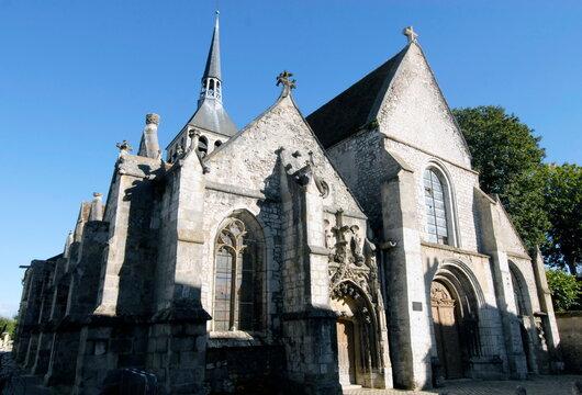 ville de Provins, église sainte-croix (XIIe siècle), département de Seine-et-Marne, France