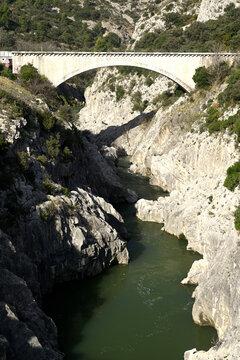 The Pont du Diable in Saint Guilhem le desert