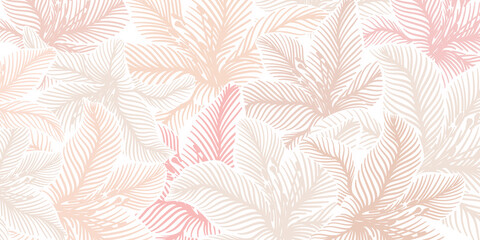 Luxury pink background vector with golden metallic decorate wall art Wall mural