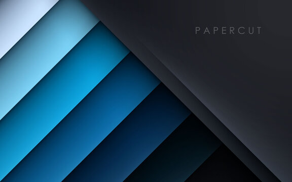 Black and blue overlap layer background