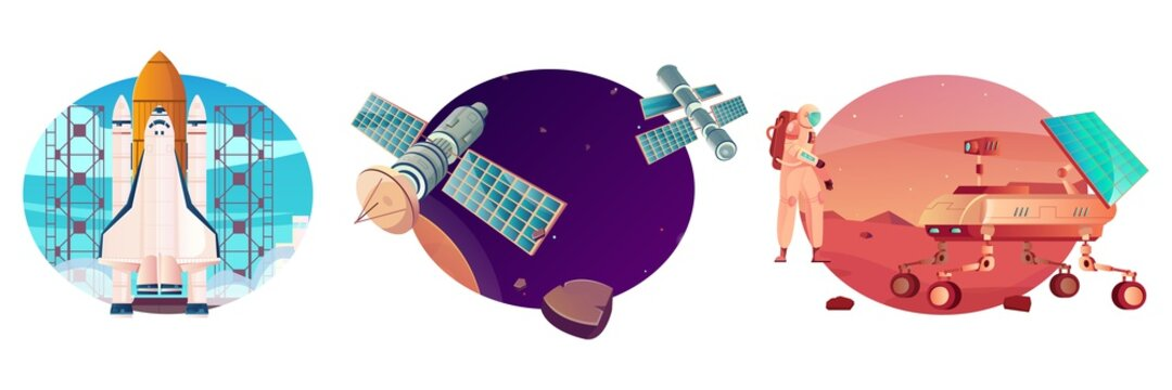Space Vehicles Compositions Set