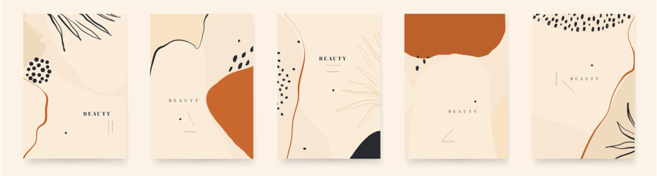 Abstract trendy universal artistic background templates. Fashionable template for design.