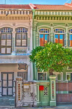 Traditional Peranakan architecture in Singapore's Joo Chiat district