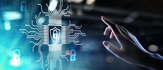 Cyber security, Information privacy, Data protection. Internet and technology concept on virtual...