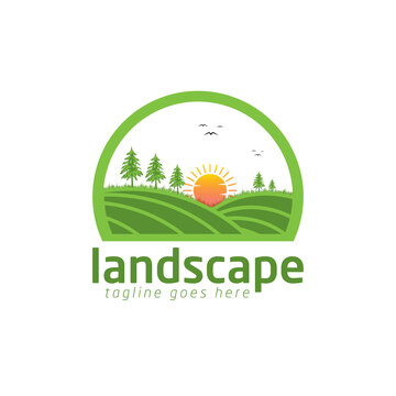 landscape logo design template