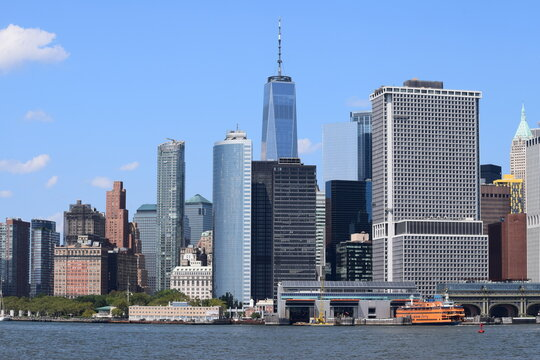 New York City NYC City Business Center Downtown Skyline Panoramic View