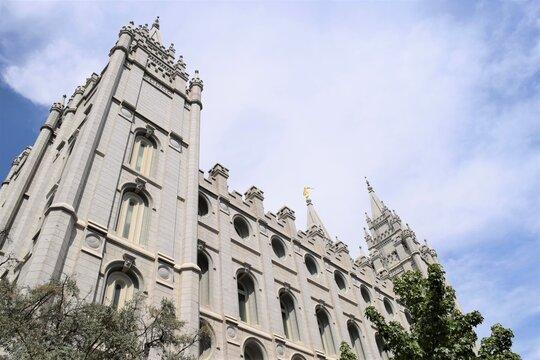 Salt Lake Temple LDS Temple at Slat Lake City Utah Look-up