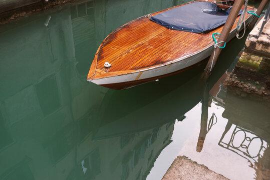 moored boat in Venice